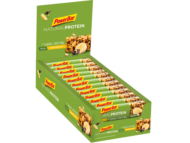 PowerBar Natural Protein Bar Box 24x40g, Banana Chocolate (Vegan)